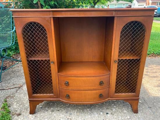 """Vintage Pendelton Irwin Wood Hutch w/Double Doors This is 32"""" T x 36 """" W x 10"""" D - As Pictured"""