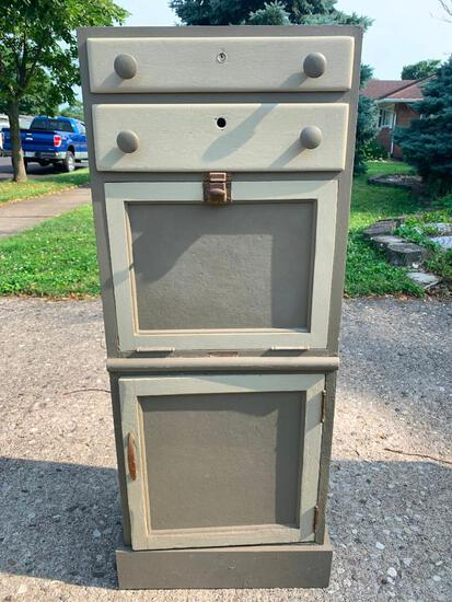 """Small Wood Storage Cabinet. This is 41"""" T x 16"""" W x 11"""" D - As Pictured"""