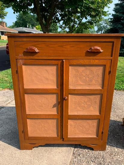 """Vintage Wooden Pie Safe .This is 51"""" T x 41"""" W x 17"""" D - As Pictured"""