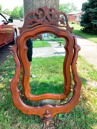 """32"""" x 20"""" Antique Wishbone Dresser Mirror. - As Pictured"""