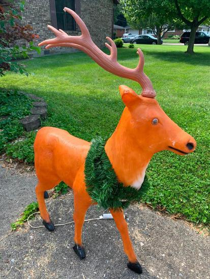 """43"""" Tall Plastic Lighted Reindeer. - As Pictured"""