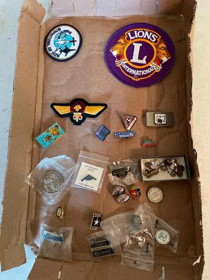 Misc Lot of Patches & Hat Pins - As Pictured