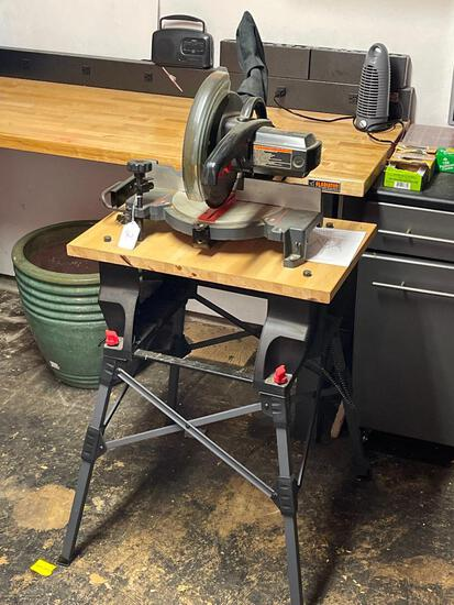"""Craftsman Stand & Stow Cabinet w/Leg Stand 10"""" Miter Saw. This is in Working Condition - As Pictured"""