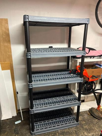 """Large 5 Shelf Heavy Duty Plastic Rack. This is 75"""" T x 36"""" W x 24"""" D - As Pictured"""