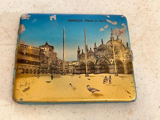 """Vintage Metal Cigarette Case. This is 3.5"""" x 4"""" - As Pictured"""