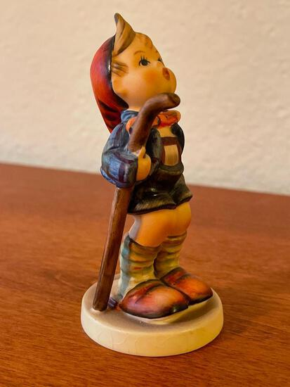 """Vintage Hummel Boy w/Cane & Slippers. This is Signed by the Artist and 3.5"""" Tall - As Pictured"""