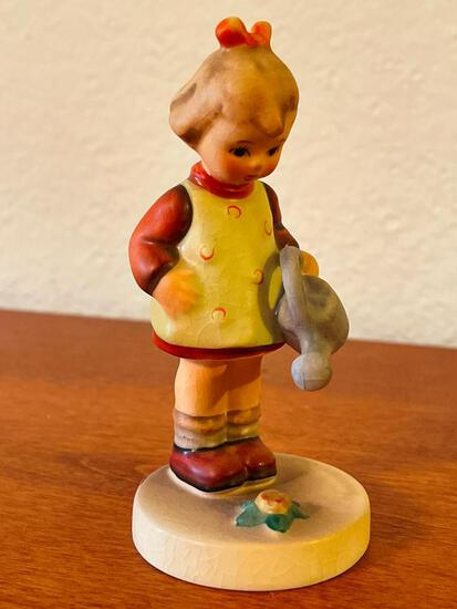 """Vintage Hummel Girl w/Watering Can """"Little Gardner"""". This is Signed by the Artist and is 4.5"""" Tall"""