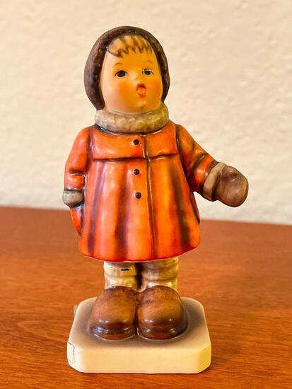 """Vintage Hummel """"Winter Song"""". This is Signed by Artist and is 4"""" Tall - As Pictured"""