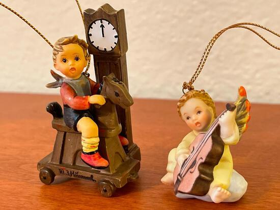 Pair of Hummel Christmas Ornaments - As Pictured