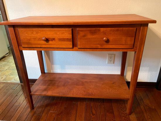 """Nice Wood Server w/2 Drawers. This is 34"""" T x 42"""" W x 18"""" D - As Pictured"""