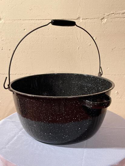 "Granite Ware Pot 7"" T x 15"" in Diameter - As Pictured"