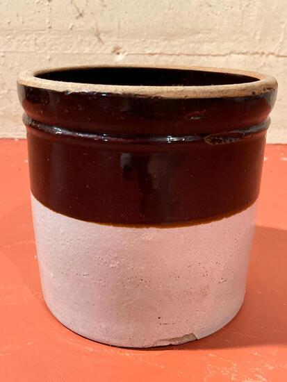 """Pottery Crock. This has Some Chips. This is 7.5"""" T x 8"""" in Diameter - As Pictured"""