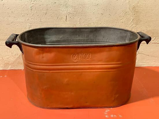 """13"""" x 26"""" Copper Wash Boiler - As Pictured"""
