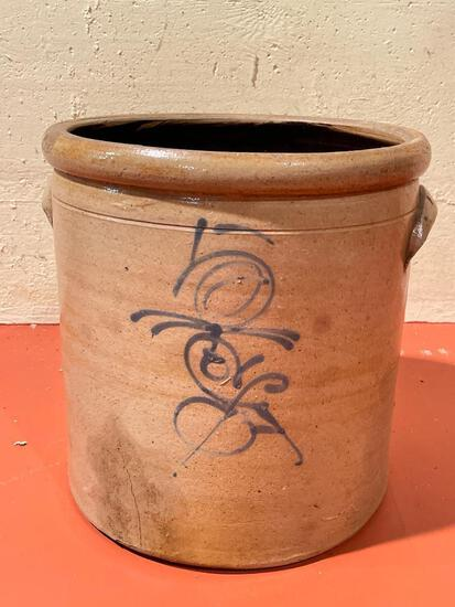 """13"""" Tall Full Bee Pottery Crock. - As Pictured"""