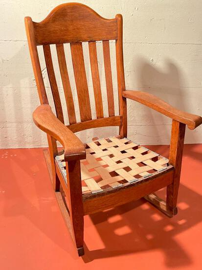 """Wood Rocking Chair. This is 40"""" Tall - As Pictured"""