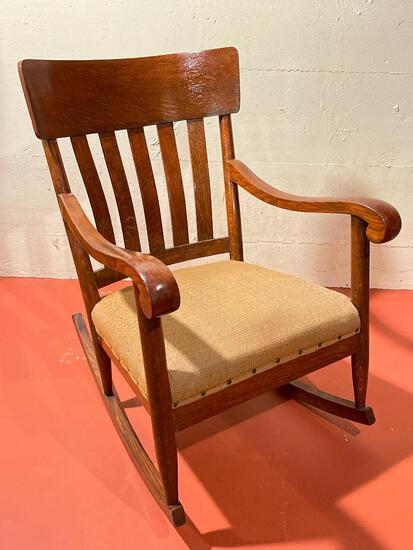 """Wood Rocking Chair. This is 35"""" Tall - As Pictured"""