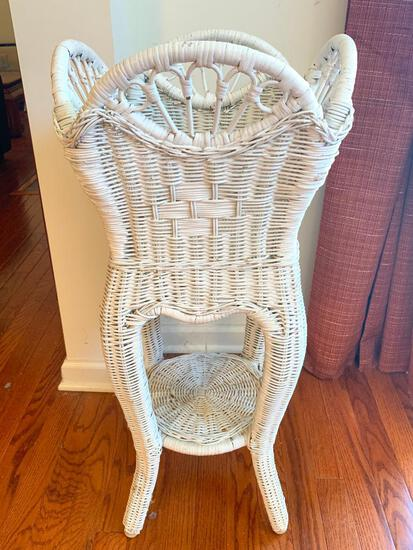 """Outdoor Wicker Plant Stand. This is 31"""" T x 14"""" W x 14"""" D - As Pictured"""