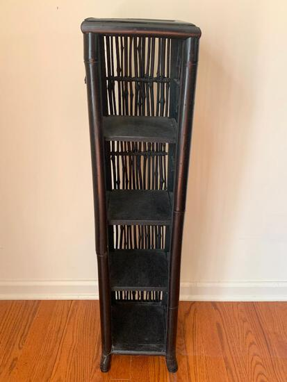 """4 Tier Wood Shelf/CD Rack. This is 37"""" T x 8.5"""" W - As Pictured"""