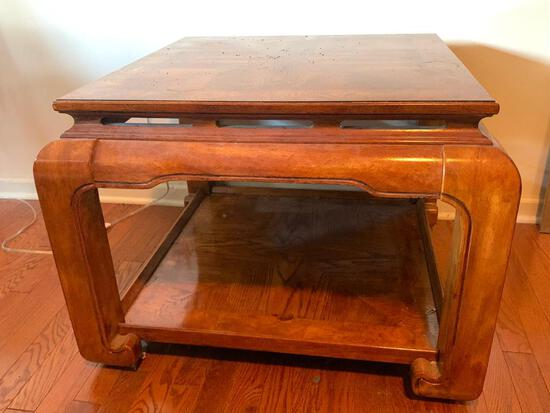 """Wood Side Table. This is 21"""" T x 28"""" W x 28"""" D - As Pictured"""