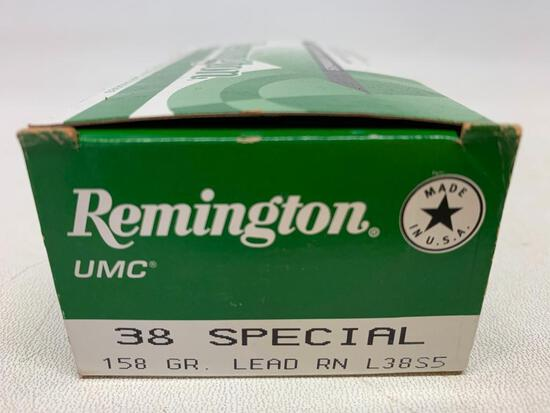 Remington UMC 38 Special Ammo Pistol & Revolver Cartridges. Box of 50. - As Pictured