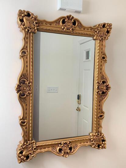 "41"" T x 29"" W x 3"" D Decorative Plastic Mirror - As Pictured"