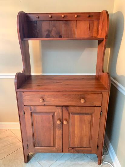 """Wood China Buffet. This is 62"""" T x 33"""" W x 20"""" D - As Pictured"""