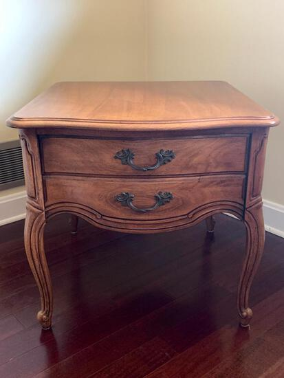 """Side Table w/Drawer by Thomasville. This is 22"""" T x 26"""" W x 24"""" D - As Pictured"""