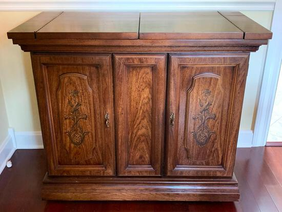 """Serving Buffet by Broyhill. This is 31"""" T x 61"""" W (when serving) x 19"""" D - As Pictured"""
