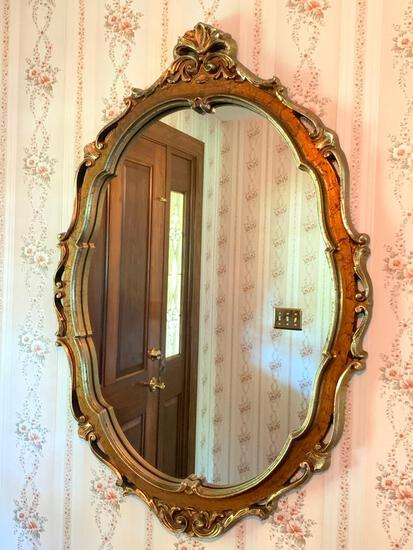 """24"""" x 36"""" Ornate Gold Tone Mirror - As Pictured"""