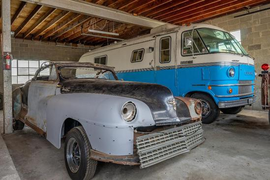 1948 Chrysler Custom Convertible Project Car with No Motor