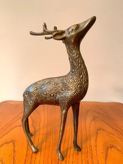 """10"""" Brass Deer - As Pictured"""