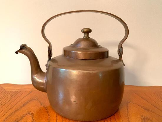 """Metal Teapot w/Handle. This is 8"""" Tall - As Pictured"""