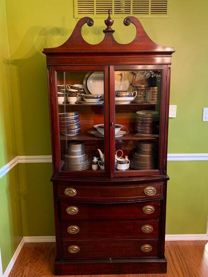 """Wood China Cabinet. This is 79"""" T x 36"""" W x 15"""" D. - As Pictured"""