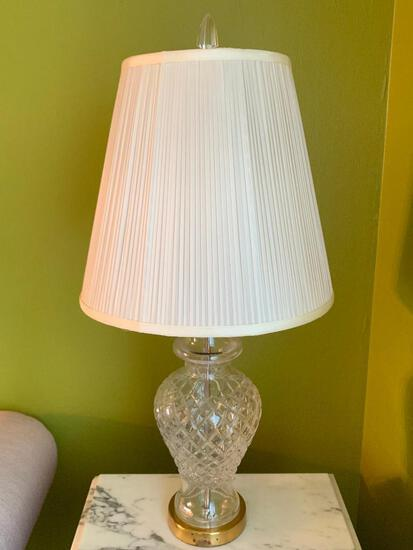 """31"""" Waterford Crystal Lamp w/Shade - As Pictured"""