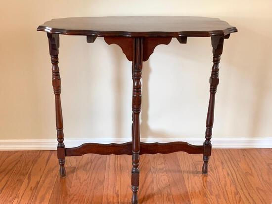 """Antique Wood Side Table. This is 29"""" T x 28"""" W x 19"""" D - As Pictured"""
