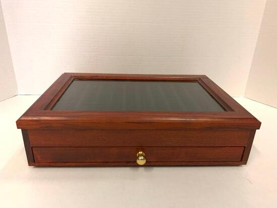 """Fountain Pen Collector Box. Holds 24 Pens. This is 3"""" x 13"""" x 9"""""""