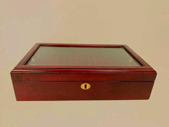 """Fountain Pen Collector Box. Holds 29 Pens. This is 3"""" x 14"""" x 8.5"""""""