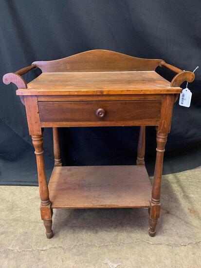"""Wood Serving Table. This is 35"""" T x 17"""" W x 14"""" D - As Pictured"""