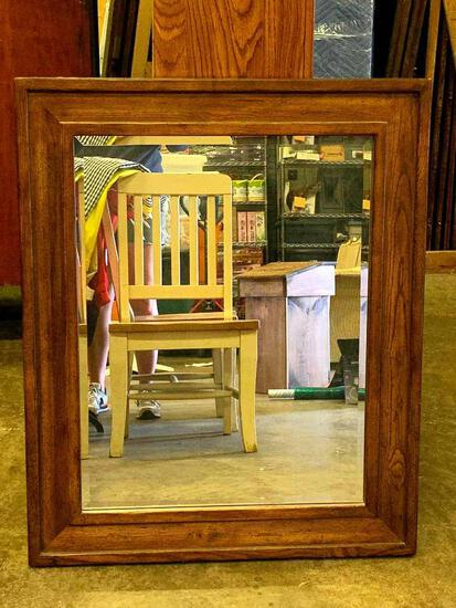 """Wood Framed Beveled Mirror by Lane. This is 39"""" x 32"""". This is Very Heavy"""