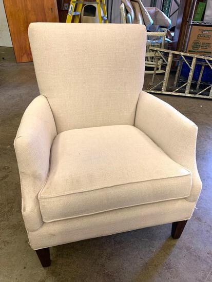 """Woven Fabric Chair by Arhaus. This is 38"""" T x 31"""" W. - As Pictured"""
