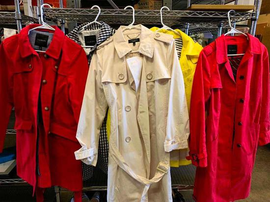 5 Ladies Raincoats by Talbots Sizes L/12. Very Nice Coats