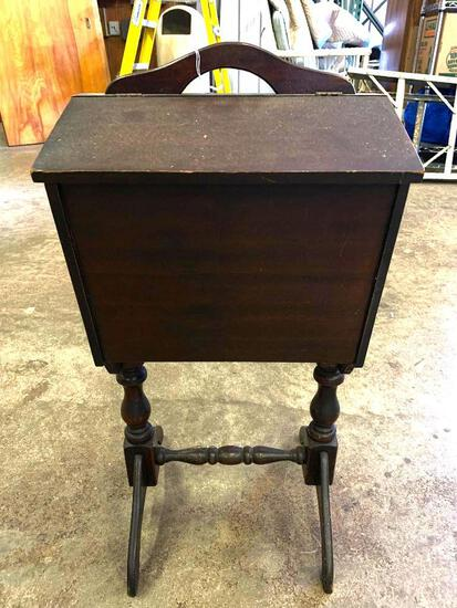"""Antique Smoke Stand. This is 27"""" T x 12.5"""" W x 12"""" D - As Pictured"""