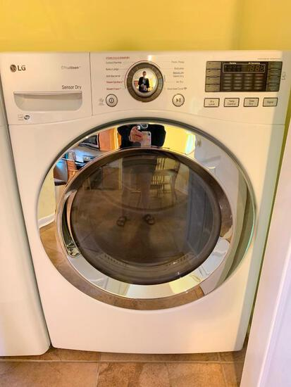 LG True Steam Front Load Dryer Model #DLEX3370W. Working in the Home. Like New