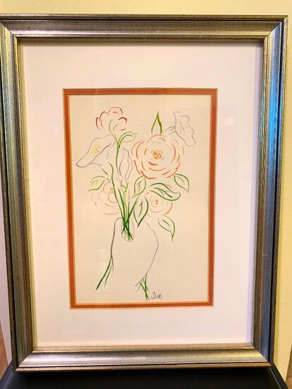 "17"" x 13"" Framed Original Art by Sue"