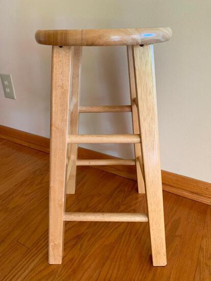 "24"" Wood Bar Stool"