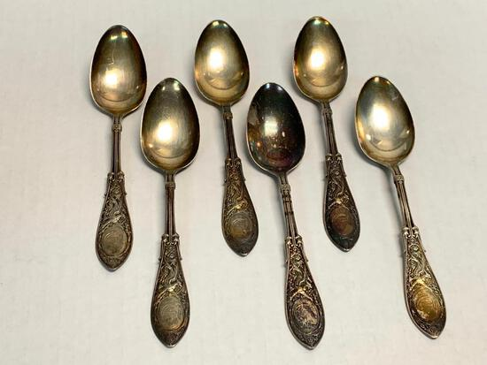 Set of 6 Sterling Silver Spoons.