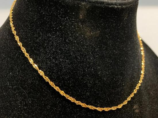 """16"""" Yellow Gold Chain. WT = 2.5 grams"""