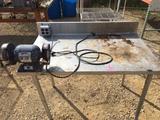 Metal table w/ grinder