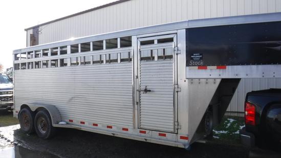 2012 Travalong Gooseneck Livestock Trailer