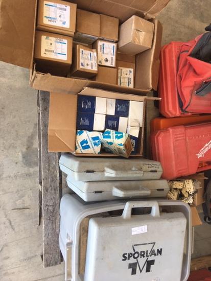 Pallet of Refrigeration repair motors, parts, and kits